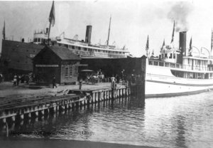 View of dock, Clinch Park, 1912